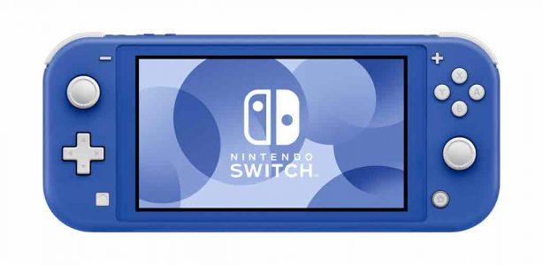 Nintendo lanzará una consola Switch Lite azul en mayo