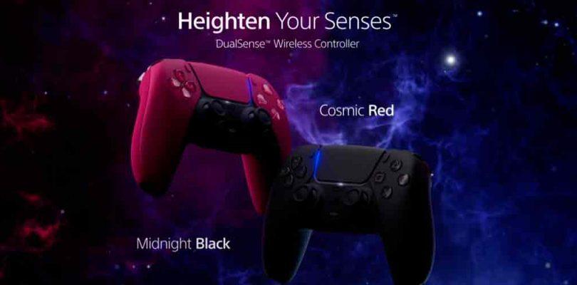 Primeros DualSense a colores de la PS5 son el Cosmic Red y Midnight Black