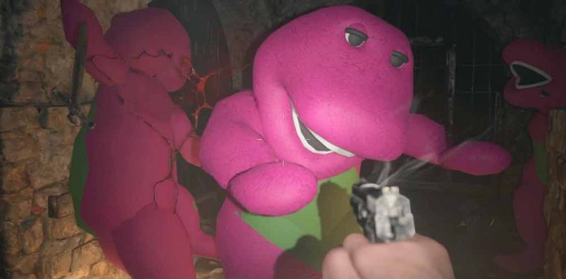 Por supuesto, los usuarios ya modearon a Barney en Resident Evil Village