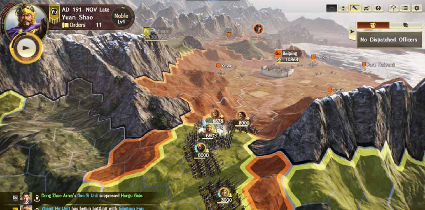 Romance of the Three Kingdoms XIV presenta escenarios del Diplomacy and  Strategy Expansion Pack